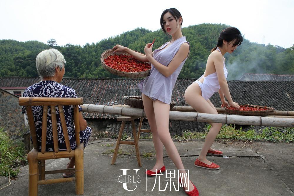 Сексуальные девушки в сельской местности Китая