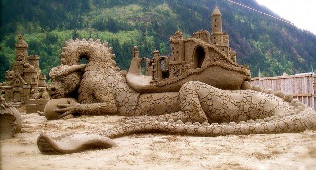 Восхитительные песочные скульптуры