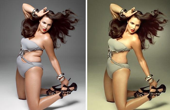 25 фотографий звезд до и после фотошопа