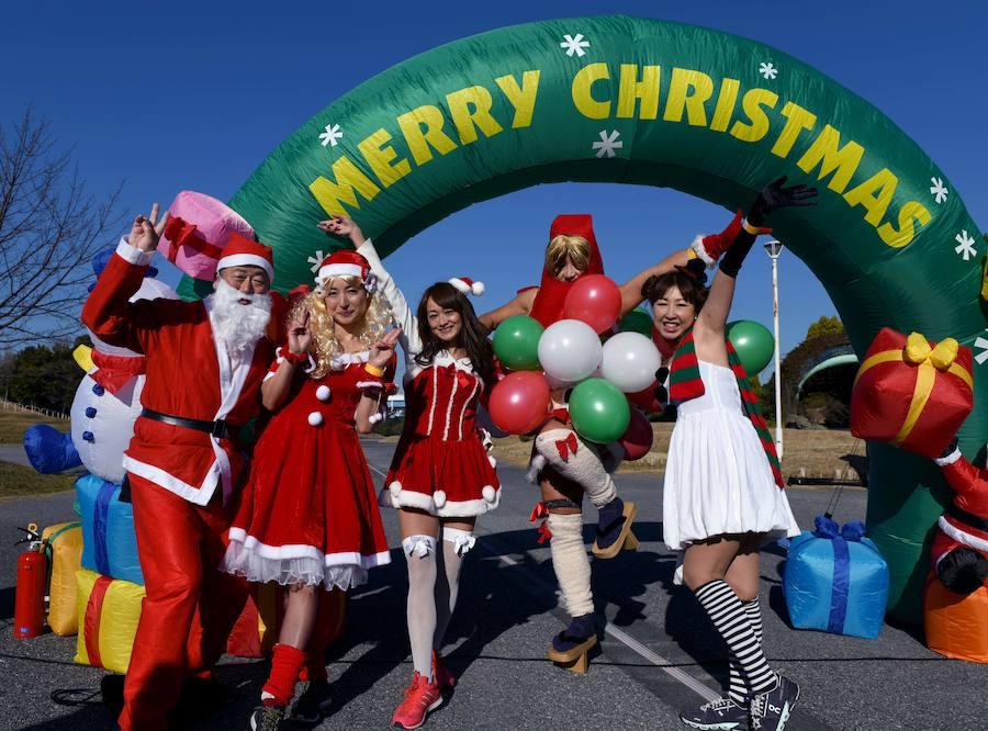 Праздничный забег Tokio Santa Run