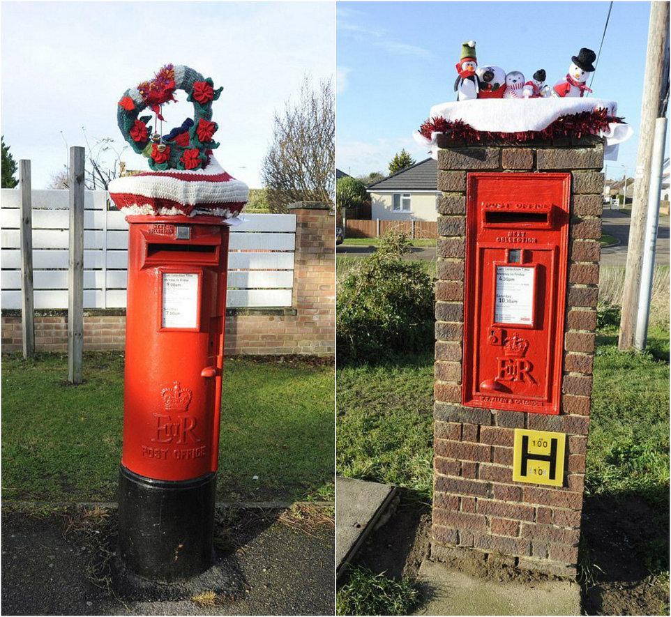 Вязаные украшения для почтовых ящиков в Великобритании