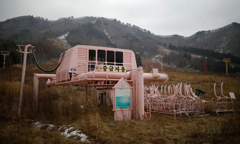 Заброшенный горнолыжный курорт в Южной Корее