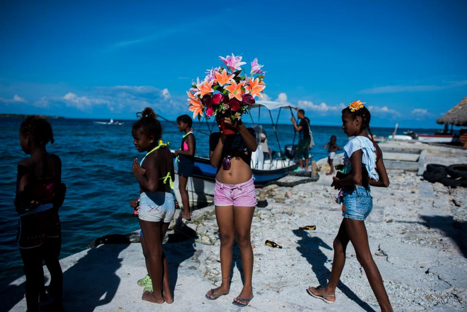 Карибский остров Санта Крус Дел Ислоте размером в два футбольных поля