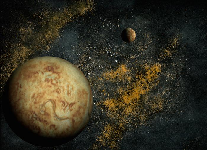 Космические пейзажи из пищевых ингредиентов