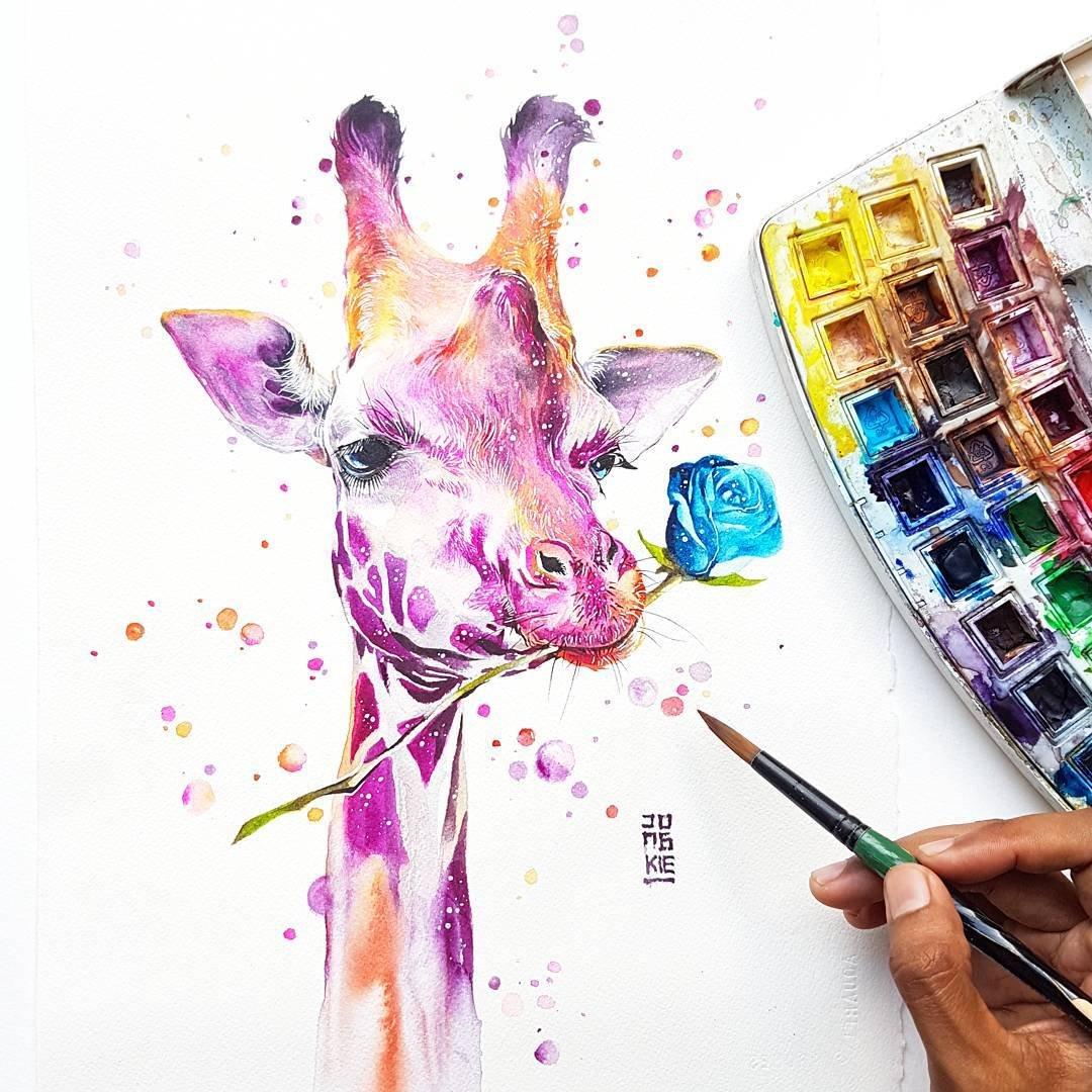Красочные акварельные иллюстрации Jongkie