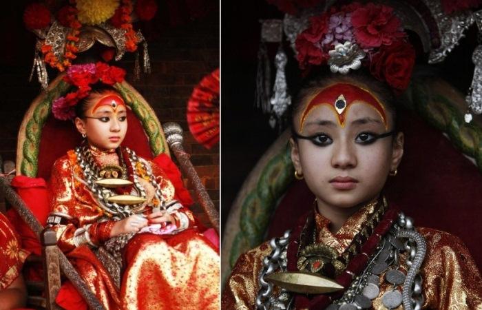 Кумари — земные богини в Непале
