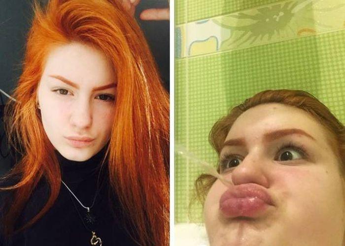 Лица на фото в соцсетях и в реальности