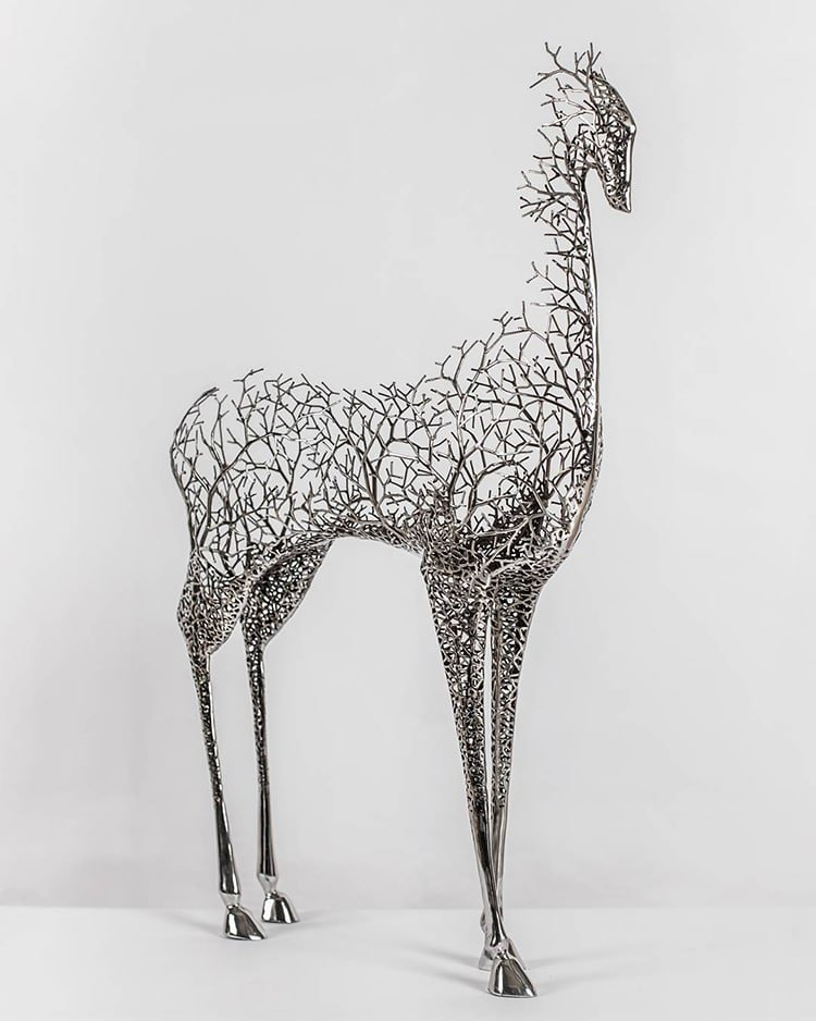 Металлические скульптуры животных от Кан Дон Хюна