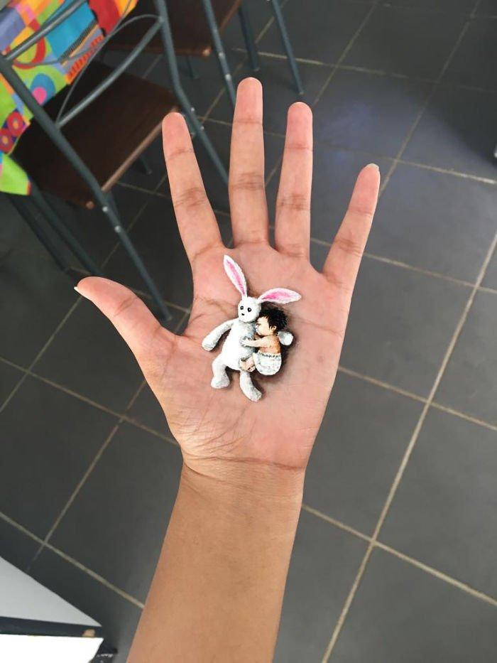 3D-рисунки на руке от Айэнты Нейкер