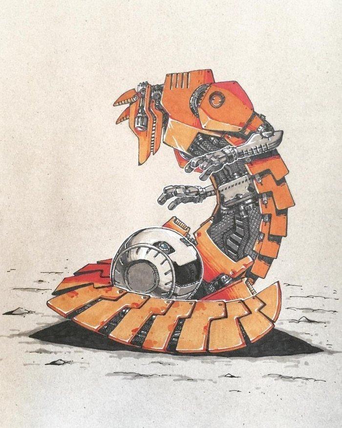 Герои русских народных сказок для роботов после восстания машин
