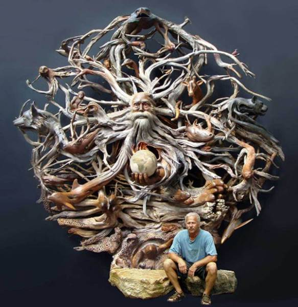Великолепные скульптуры из дерева
