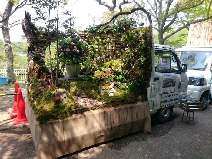 Конкурс садов на японских мини-грузовиках Kei Truck