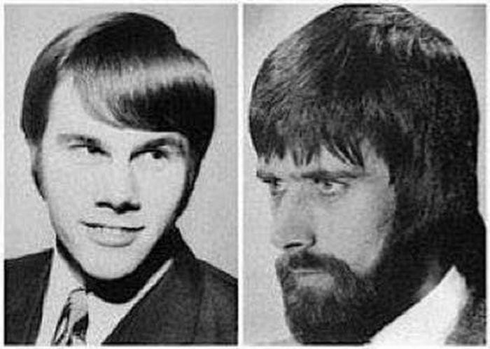 Модные мужские прически 70-х