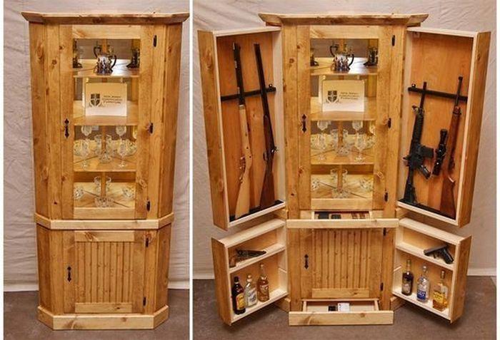 Необычная мебель для хранения оружия