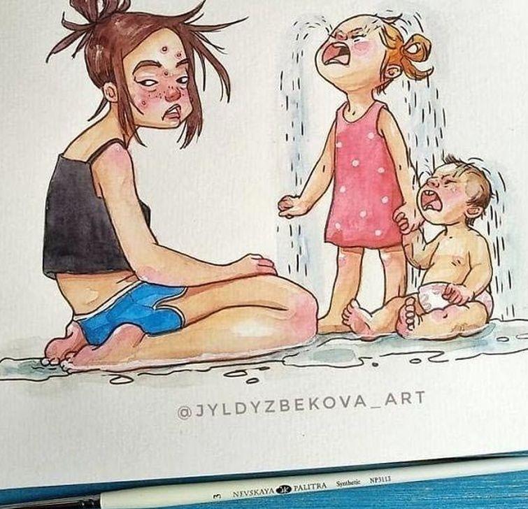 именно мама и дочка картинки юмор народных