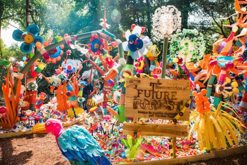 Художник создал «Лес будущего» из 3 тонн пластиковых отходов