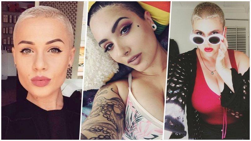 Женственные девушки с ультра-короткими волосами