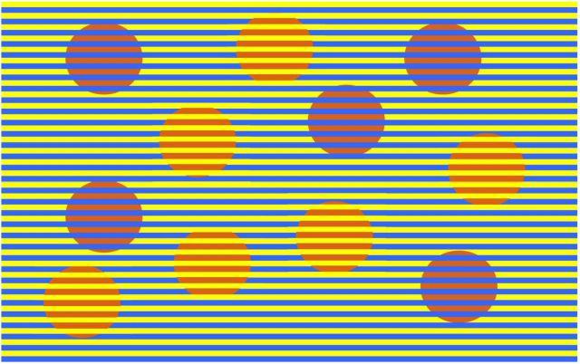 Оптическая иллюзия «Конфети»