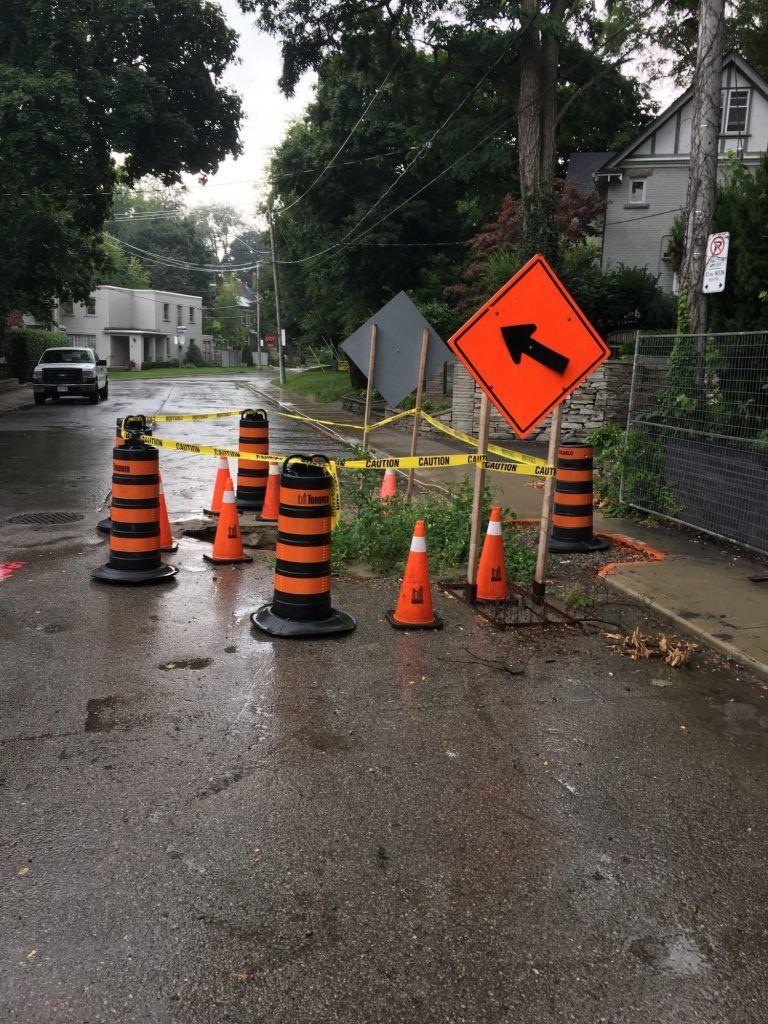 Канадцы высадили помидоры в яму на дороге