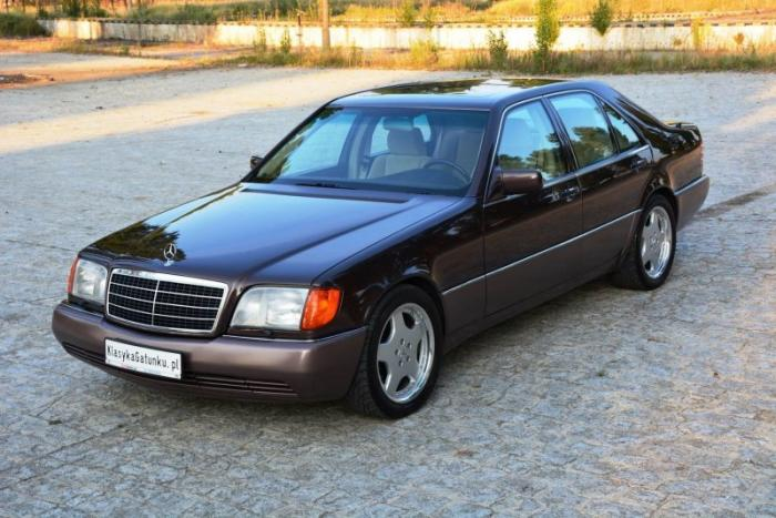 Mercedes W140 500SE 1992 «Nutria» с велюровым салоном