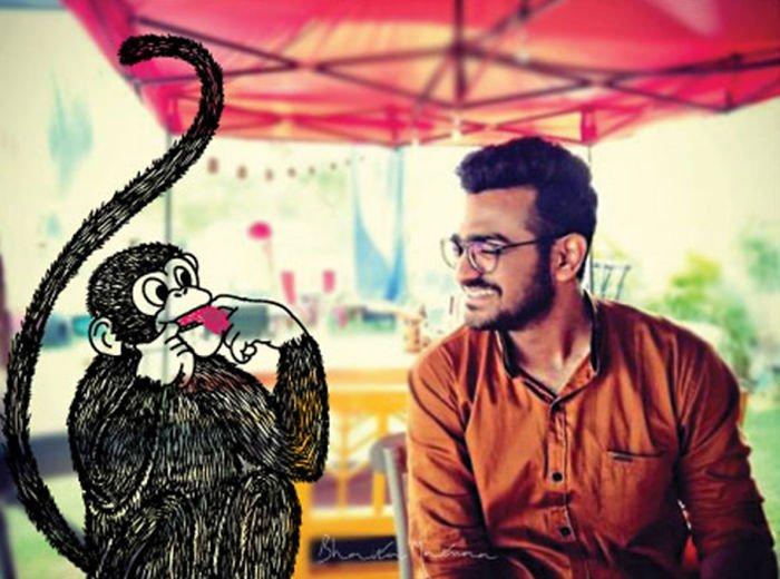 Художница пририсовывает забавных персонажей к друзьям на фото