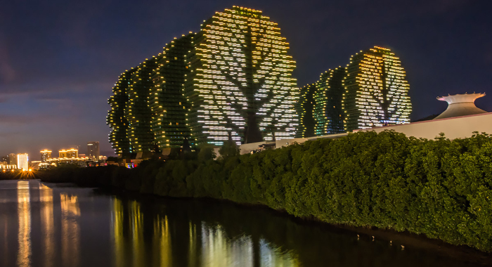 Оригинальные небоскребы-деревья в Китае