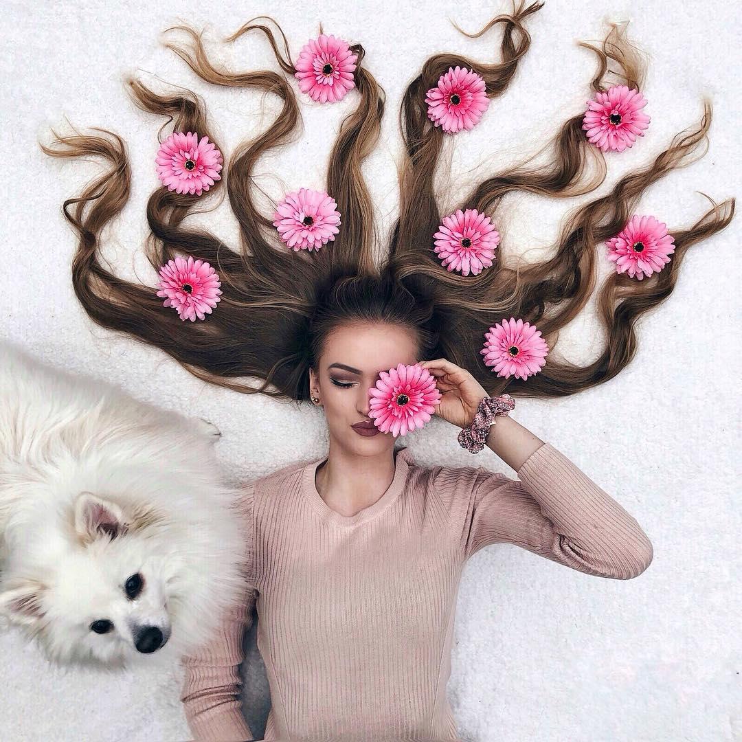 Художница из Нидерландов делает невероятные снимки своих волос