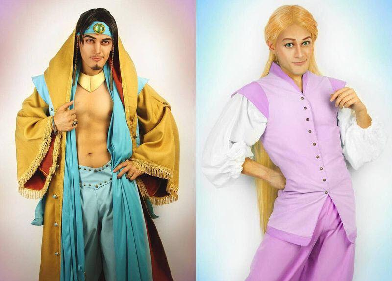 Диснеевские принцессы превращаются в принцев