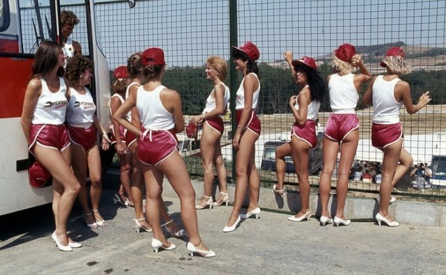 Грид-гёрлз первого гран-при Венгрии 1986 года
