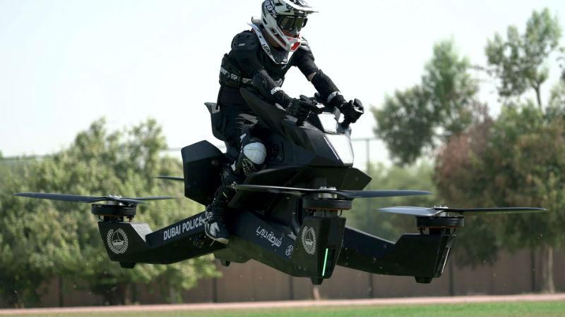 Полиция Дубая пересядет на летающие мотоциклы