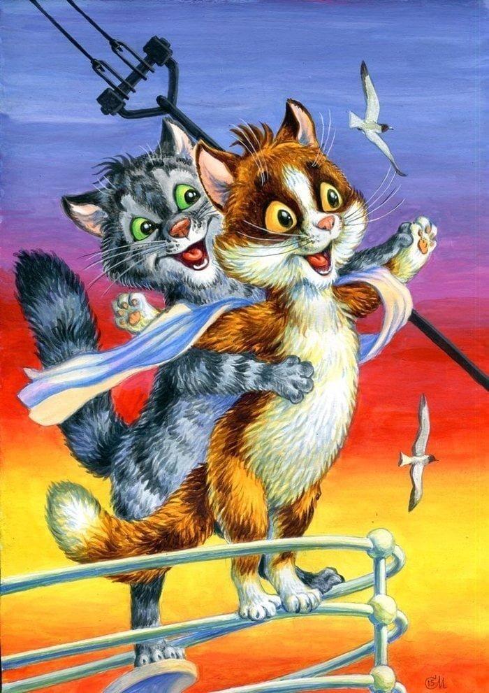 Российский художник заменил котами актёров в известных фильмах