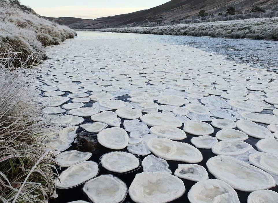 «Ледяные блины» на шотландской реке