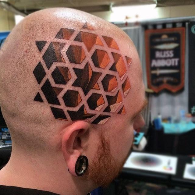 Необычные 3D-татуировки и оптические иллюзии