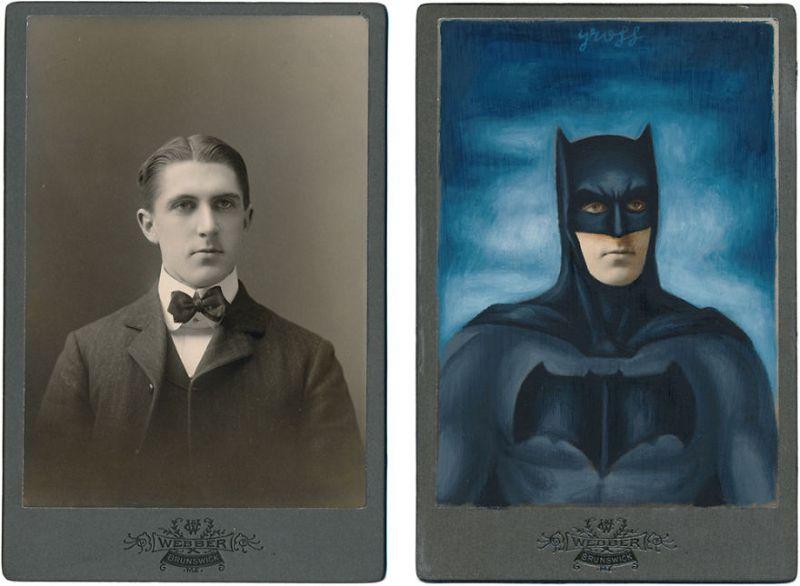 Винтажные портреты персонажей комиксов и фильмов