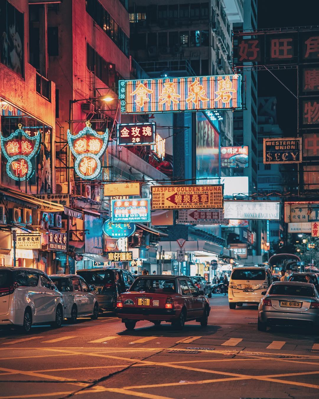 Яркие городские пейзажи Гонконга от Дональда Чана