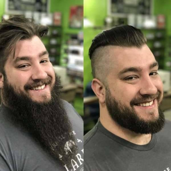 Как уход за бородой и прической меняет внешность мужчин