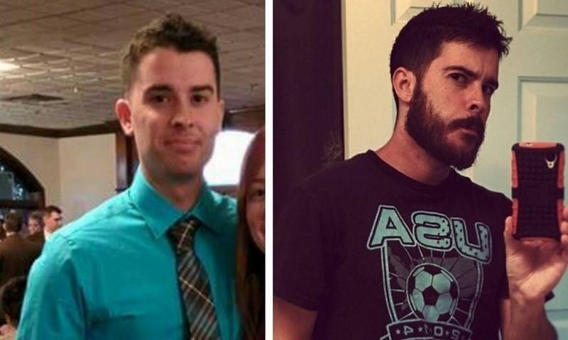 Мужчины с бородой и без нее