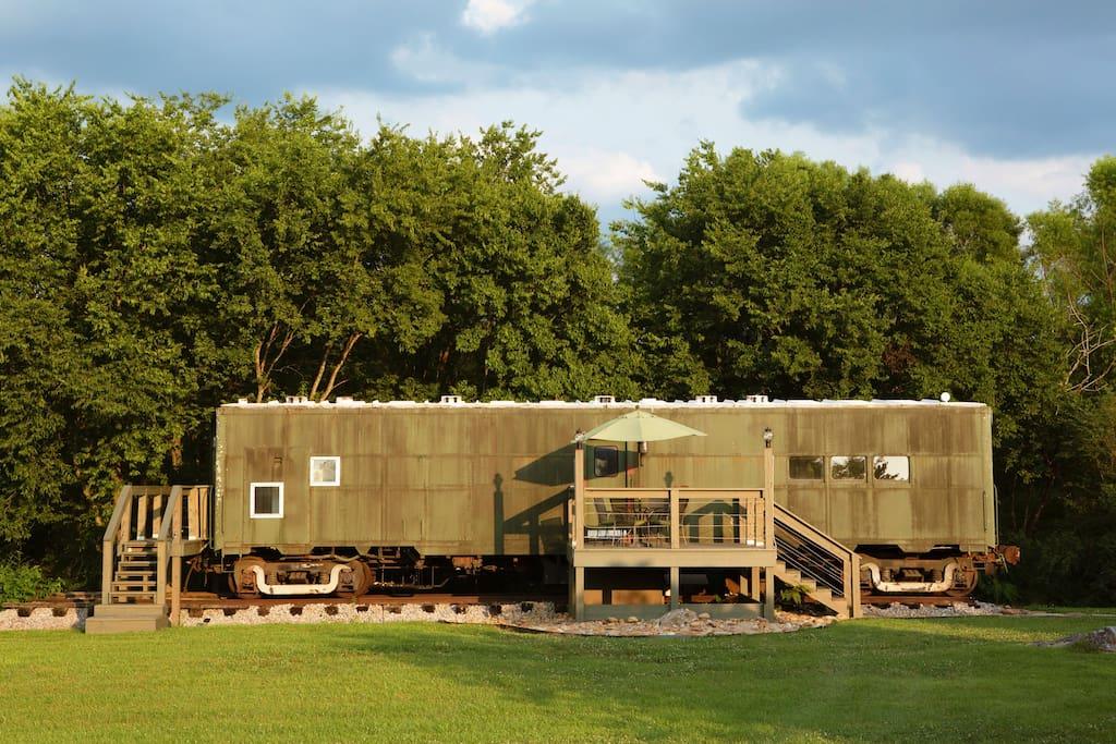 Уютное арендное жилье из вагона-кухни времен Второй мировой войны