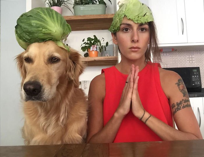 Фотограф делает забавные снимки себя и своей собаки