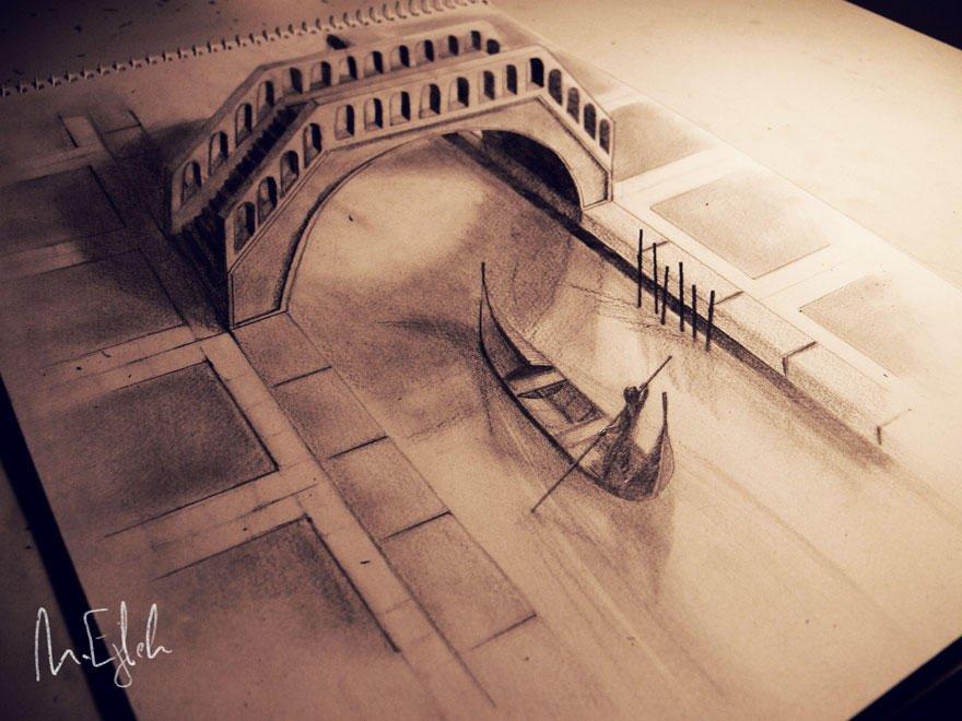 Впечатляющие карандашные 3D-рисунки от художников со всего мира