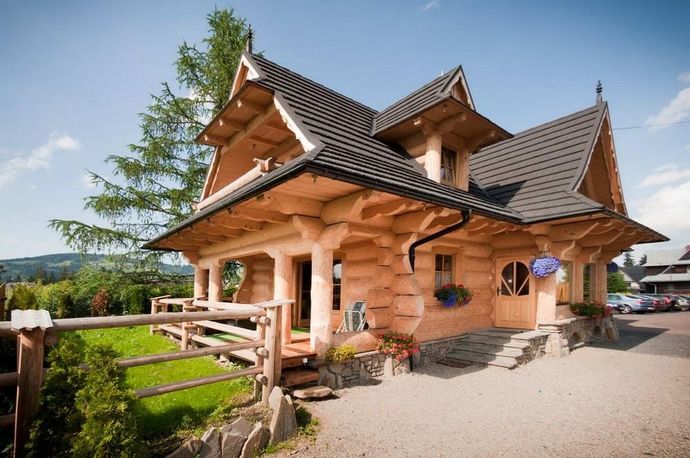 Бревенчатые домики для отдыха в Польше