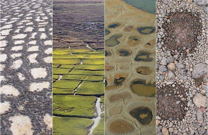 Геометрические рисунки и узоры на почве