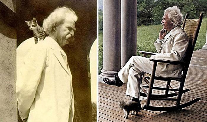 Марк Твен и его любовь к котам