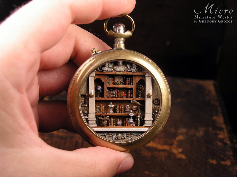 Миниатюрные миры в старинных карманных часах