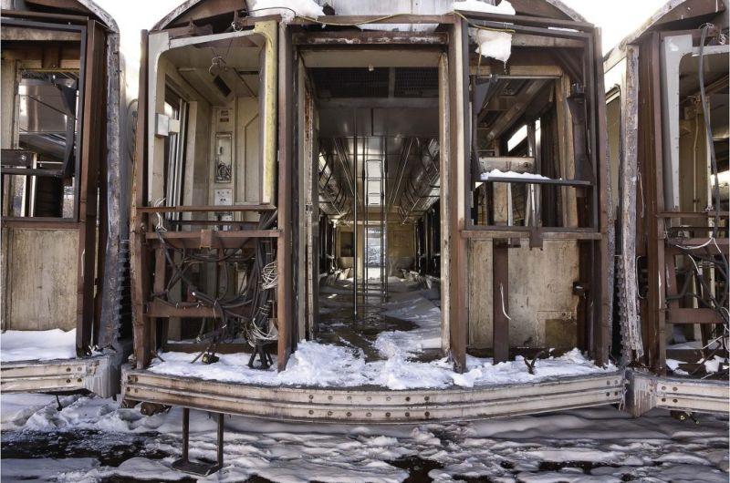 Последнее путешествие вагонов нью-йоркского метро