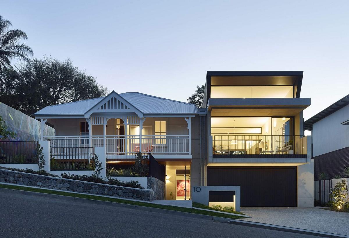 Семейный дом с двумя фасадами в Австралии