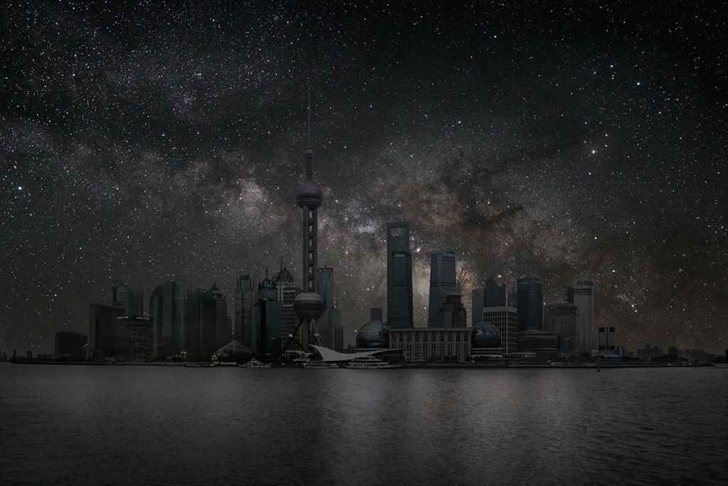 Как бы выглядели города, освещенные только звездами