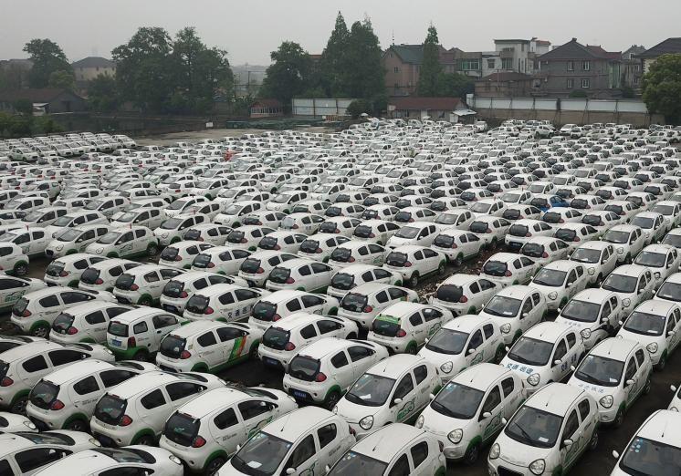 Кладбище электромобилей в Китае