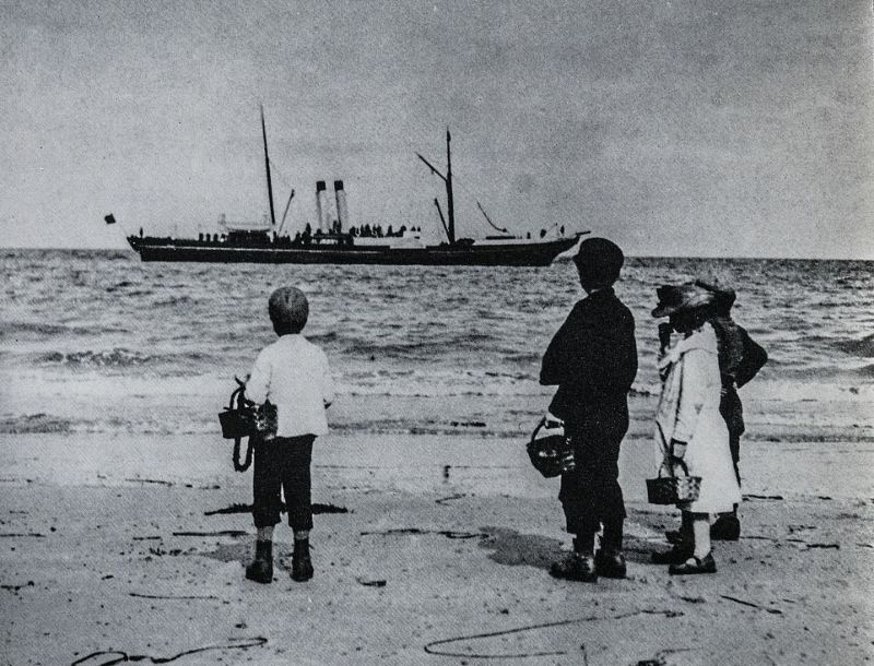 Отдых на британских пляжах в 1890-х годах
