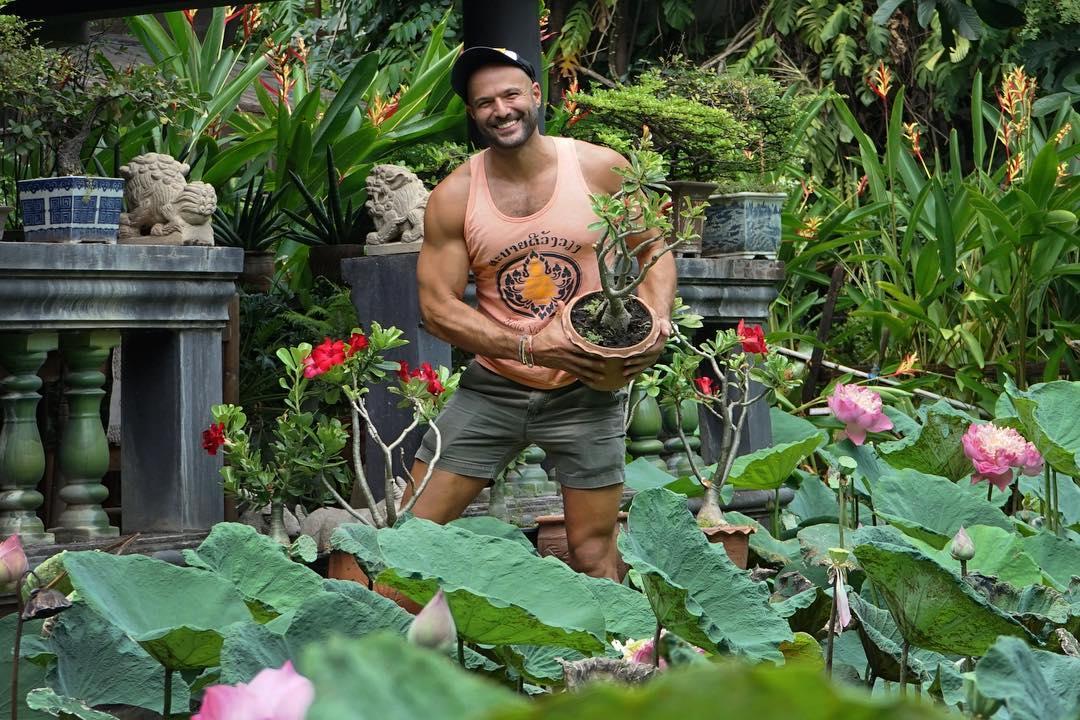 Популярный Instagram-аккаунт с полуголыми мужчинами и растениями